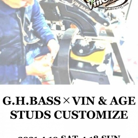 GH.BASS×VIN&AGE  STUDS CUSTOMIZE